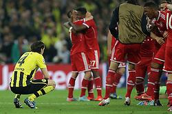 25.05.2013, Wembley Stadion, London, ENG, UEFA Champions League, FC Bayern Muenchen vs Borussia Dortmund, Finale, im Bild Neven SUBOTIC (Borussia Dortmund - BVB - 4) ist enttaeuscht, ist frustriert, frust, zeigt Emotionen - Jerome BOATENG (FC Bayern Muenchen - 17) schreit ihn an // during the UEFA Champions League final match between FC Bayern Munich and Borussia Dortmund at the Wembley Stadion, London, United Kingdom on 2013/05/25. EXPA Pictures © 2013, PhotoCredit: EXPA/ Eibner/ Gerry Schmit..***** ATTENTION - OUT OF GER *****
