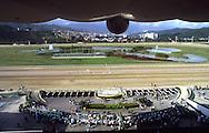 Vista del Hipódromo de La Rinconada en Caracas, Venezuela.  View of La Rinconada's Racetrack. (Ramón Lepage/Orinoquiaphoto)