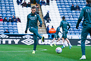 Leeds United defender Ben White (5) warming up during the EFL Sky Bet Championship match between Huddersfield Town and Leeds United at the John Smiths Stadium, Huddersfield, England on 7 December 2019.