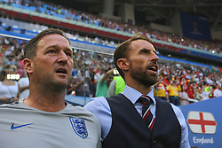 July 14, 2018 - Saint Petersburg, Russia - Head Coach Gareth Southgate of the England national football team during the 2018 FIFA World Cup Russia 3rd Place Playoff match between Belgium and England at Saint Petersburg Stadium on July 14, 2018 in St. Petersburg, Russia. (Credit Image: © Igor Russak/NurPhoto via ZUMA Press)