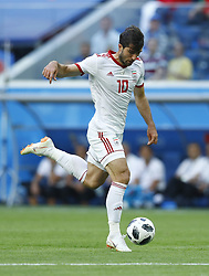 June 15, 2018 - Saint Petersburg, Russia - Group B Morocco v IR Iran - FIFA World Cup Russia 2018.Karim Ansarifard (Iran)  during the 2018 FIFA World Cup Russia group B match between Morocco and IR Iran at the Saint Petersburg Stadium on June 15, 2018 in Saint Petersburg, Russia. (Credit Image: © Matteo Ciambelli/NurPhoto via ZUMA Press)