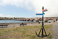 Anchor on waterfront in Berwick-Upon-Tweed, marking one end of the Northumberland Coast Path. Northumberland, UK (May 2016) © Rudolf Abraham