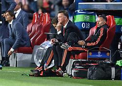 15-09-2015 NED: UEFA CL PSV - Manchester United, Eindhoven<br /> PSV kende een droomstart in de Champions League. De Eindhovenaren waren in eigen huis te sterk voor de miljoenenploeg Manchester United: 2-1 / Coach Louis van Gaal