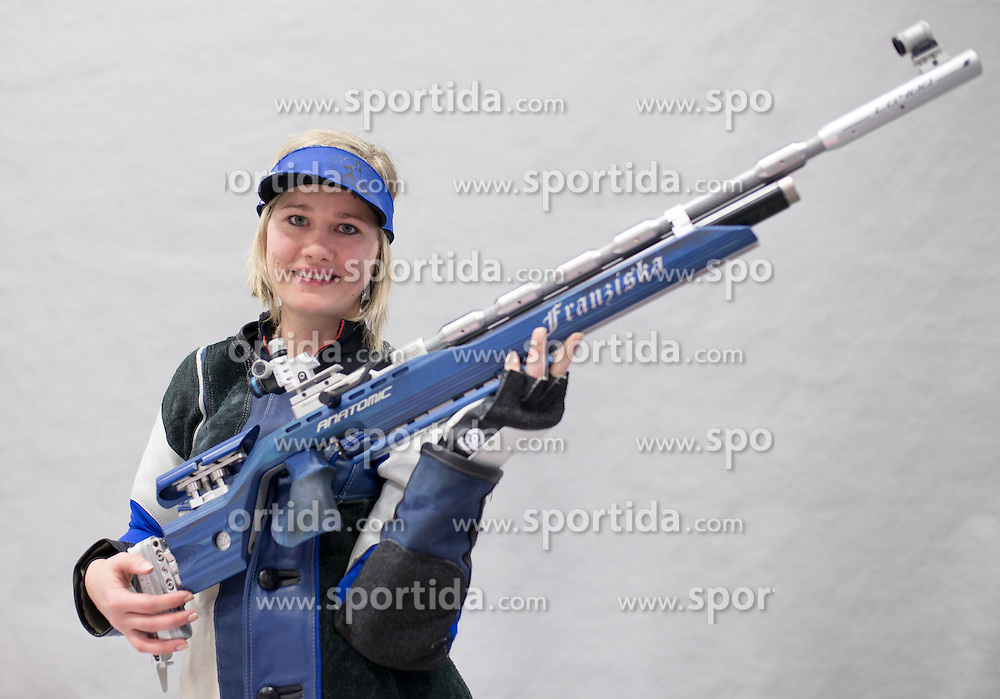 19.03.2016, Arena Kufstein, Kufstein, AUT, Österreichische Meisterschaften für Luftdruckwaffen, Damen, im Bild Franziska Peer (AUT) // Franziska Peer of Austria during the Austrian Womens Championships for airguns at Arena Kufstein in Kufstein, Austria on 2016/03/19. EXPA Pictures © 2016, PhotoCredit: EXPA/ Johann Groder