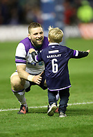 Rugby Union - 2017 Autumn Internationals - Scotland vs. New Zealand<br /> <br /> John Barclay of Scotland with his son Finn after the match at Murrayfield.<br /> <br /> COLORSPORT/LYNNE CAMERON