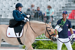 Birgitte Reitan riding SNO in the Grade 1a Para-Dressage at the 2014 World Equestrian Games, Caen, Normandy, France..