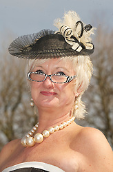 LIVERPOOL, ENGLAND - Friday, April 9, 2010: Lynda Evans attends Ladies' Day during the second day of the Grand National Festival at Aintree Racecourse. (Pic by David Rawcliffe/Propaganda)