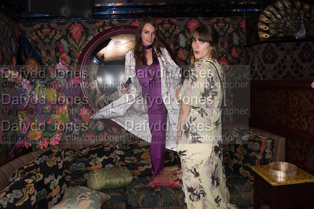 LADY VIOLET MANNERS, Robin Birley and Lady Annabel Goldsmith Summer Party. Hertford St. London. 5 July 2017