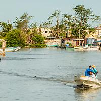 Fishing boat in Belize City