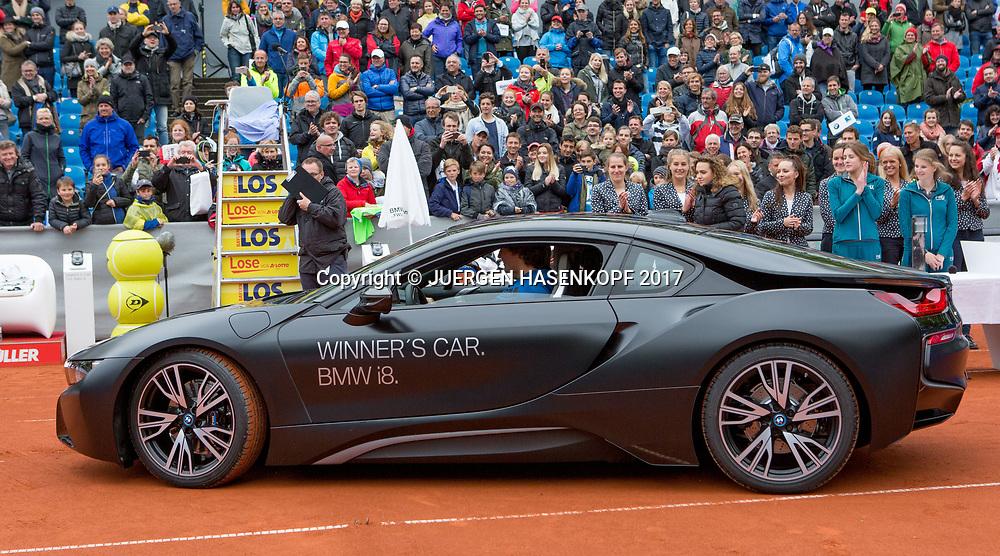 Sieger ALEXANDER ZVEREV (GER) faehrt eine Runde auf dem Platz in seinem Siegerauto, Endspiel, Final, Siegerehrung<br /> <br /> Tennis - BMW Open 2017 -  ATP  -  MTTC Iphitos - Munich -  - Germany  - 7 May 2017.