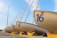Sailboats at dock, Annapolis Maryland, United States.