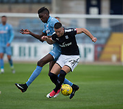 Dundee's Randy Wolters and Bolton Wanderers' Sammy Ameobi - Dundee v Bolton Wanderers pre-season friendly at Dens Park, Dundee, Photo: David Young<br /> <br />  - © David Young - www.davidyoungphoto.co.uk - email: davidyoungphoto@gmail.com