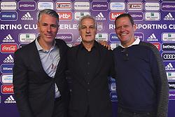 January 7, 2019 - Bruxelles, Belgique - Michael Verschueren sports director of Anderlecht, Frank Arnesen technical director of Anderlecht with Fred Rutten (Credit Image: © Panoramic via ZUMA Press)