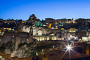 Night view of Sassi di Matera