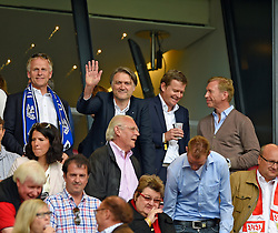 Football: Germany, 1. Bundesliga, VFB STUTTGART - HAMBURGER SV (HSV), Stuttgart - 16.05.2015,<br /> Vorstandsvorsitzende der HSV Fussball-AG Dietmar Beiersdorfer (m, Hamburg)<br /> <br /> &copy; pixathlon<br /> <br /> +++ NED out !!! +++