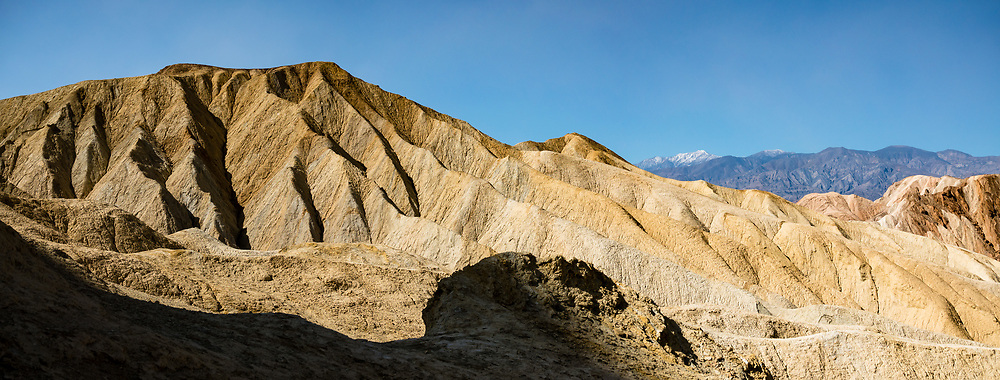 Telescope Peak seen from Golden Canyon Trail in Death Valley National Park, California, USA. This image was stitched from multiple overlapping photos.
