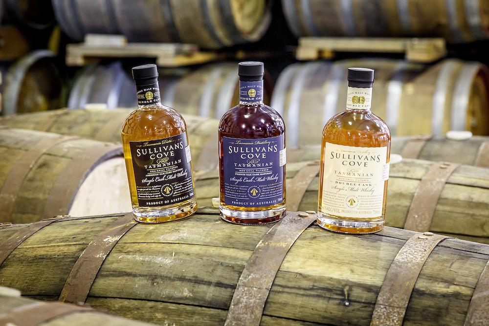 Bottles of Sullivan's Cove whisky at Tasmania Distillery in Hobart, Tasmania, August 25, 2015. Gary He/DRAMBOX MEDIA LIBRARY