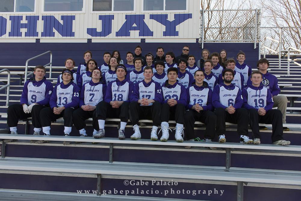 John Jay Varsity Lacrosse team at John Jay High School on March 23, 2015. (photo by Gabe Palacio)