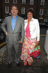 DOMINIC LAWSON and ROSA LAWSONat the annual Sir David & Lady Carina Frost Summer Party in Carlyle Square, London SW3 on 5th July 2007.<br />