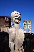 Tiki, Puuhonua O Honaunau , City of refuge, Island of Hawaii<br />