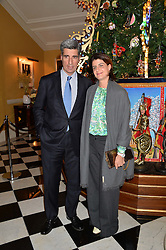 STEPHEN ALDEN CEO of the Maybourne Hotel Group and his wife FRANCESCA ALDEN at the Claridge's Christmas Tree By Dolce & Gabbana Launch Party held at Claridge's, Brook Street, London on 26th November 2013.