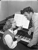 """1952 """"Musicmakers"""" reading in Peter Hunt studio"""