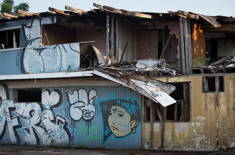Blighted  business in the 9th ward, nine years after Hurricane Katrina.