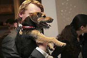 ED GODRICH HOLDING KEVIN, ' Copper: A Dog's Life' Lady Annabel Goldsmith book signing. Mungo and Maud, Elizabeth St. London. 20 February 2007.   -DO NOT ARCHIVE-© Copyright Photograph by Dafydd Jones. 248 Clapham Rd. London SW9 0PZ. Tel 0207 820 0771. www.dafjones.com.