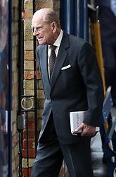 The Duke of Edinburgh arrives at Kings Lynn Railway station as he arrives in Norfolk for his Christmas break on the Sandringham Estate in Norfolk.