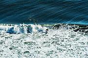 Surfing, Long Nook Beach, Cape Cod National seashore, Truro, Cape Cod, Massachusetts, USA.