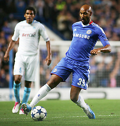 28.09.2010, Stamford Bridge, London, ENG, UEFA Champions League, Chelsea vs Olympique Marseille, im Bild Chelsea's French footballer Nicolas Anelka in action against Mersaille. EXPA Pictures © 2010, PhotoCredit: EXPA/ IPS/ Mark Greenwood +++++ ATTENTION - OUT OF ENGLAND/UK +++++ / SPORTIDA PHOTO AGENCY