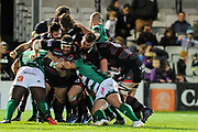 Despite best efforts Edinburgh lose out in the Guinness Pro 14 2017_18 match between Edinburgh Rugby and Benetton Treviso at Myreside Stadium, Edinburgh, Scotland on 15 September 2017. Photo by Kevin Murray.