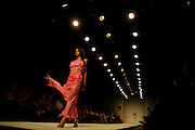 A model presents a creation by Indian designer Jatin Varma during the India Fashion Week in New Delhi, India, Friday, April 7, 2006. (AP Photo/Sebastian John)