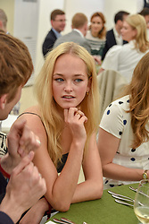 Jean Campbell at the Cartier Queen's Cup Polo 2019 held at Guards Polo Club, Windsor, Berkshire. UK 16 June 2019. <br /> <br /> Photo by Dominic O'Neill/Desmond O'Neill Features Ltd.  +44(0)7092 235465  www.donfeatures.com