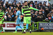 Forest Green Rovers Chris Clements(22) during the EFL Sky Bet League 2 match between Forest Green Rovers and Coventry City at the New Lawn, Forest Green, United Kingdom on 3 February 2018. Picture by Shane Healey.