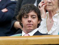 LONDON, ENGLAND - Tuesday, June 28, 2011: Golfer Rory McIlroy watches the Ladies' Singles Quarter-Final match on day eight of the Wimbledon Lawn Tennis Championships at the All England Lawn Tennis and Croquet Club. (Pic by David Rawcliffe/Propaganda)