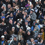 Yale fans in action during the Harvard Vs Yale, College Football, Ivy League deciding game, Harvard Stadium, Boston, Massachusetts, USA. 22nd November 2014. Photo Tim Clayton