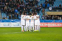 Illustration minute de silence Rennes - 13.01.2015 - Bastia / Rennes - 1/4Finale Coupe de la Ligue -<br /> Photo : Michel Maestracci / Icon Sport