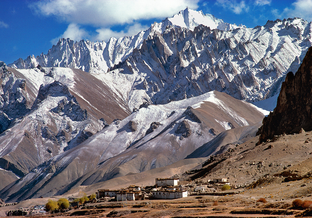 The village of Bodh Kharbu is located on the Srinagar-Leh road in Ladakh in northern India.