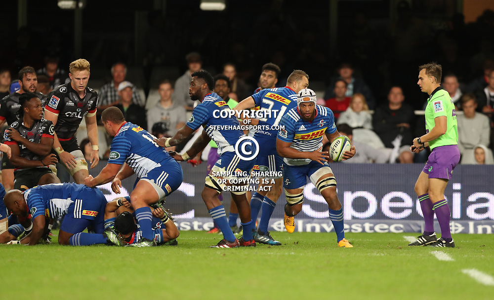 DURBAN, SOUTH AFRICA - MAY 27: Nizaam Carr of the DHL Stormers during the Super Rugby match between Cell C Sharks and DHL Stormers at Growthpoint Kings Park on May 27, 2017 in Durban, South Africa. (Photo by Steve Haag/Gallo Images)