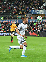 Football - 2019 / 2020 EFL Carabao (League) Cup - Second Round: Swansea City vs. Cambridge United<br /> <br /> Kristoffer Peterson of Swansea City on the attack , at Liberty Stadium.<br /> <br /> COLORSPORT/WINSTON BYNORTH