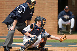 Virginia Cavaliers catcher Beau Seabury (16) in action against Duke.  The Virginia Cavaliers Baseball team defeated the Duke Blue Devils 8-1 in the final game of a three game series at Davenport Field in Charlottesville, VA on April 8, 2007. The win secured a 2-1 series victory over the Blue Devils.