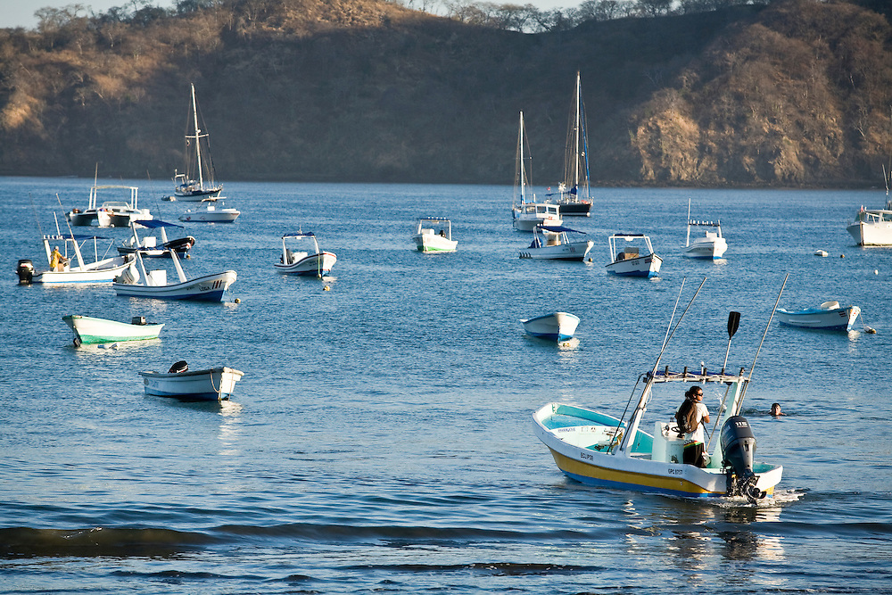 A surf safari to Witches rock in Santa Rosa National Park begins by taking the boats from Play del Coco. A beach town in Northern Guanacaste
