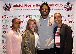 Lovell Cook of Bristol Flyers poses with fans - Mandatory by-line: Robbie Stephenson/JMP - 12/09/2016 - BASKETBALL - Ashton Gate Stadium - Bristol, England - Bristol Flyers Sponsors Event