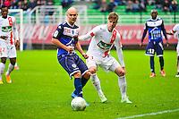 Benjamin NIVET / Manuel PEREZ - 10.01.2014 - Troyes / Brest - 19e journee Ligue 2<br /> Photo : Dave Winter / Icon Sport