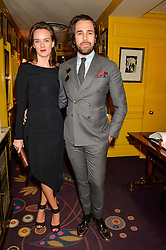 DIEGO BIVERO-VOLPE and CHARLOTTE CARROL at the 2nd Bright Young Things Back In London party held at Annabel's, 44 Berkeley Square, London on 11th February 2016.