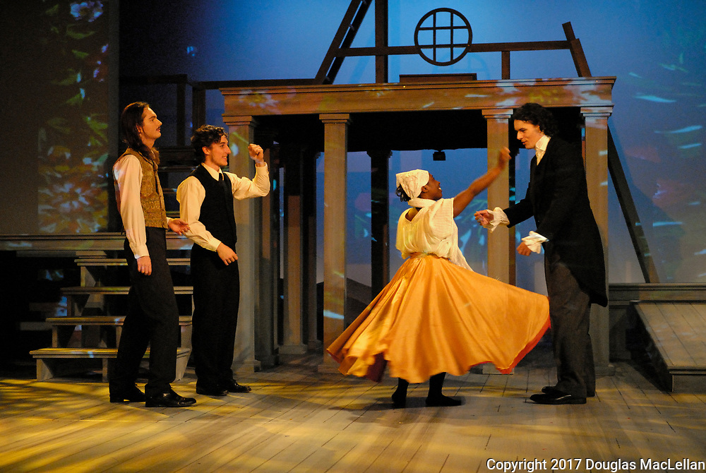 """CANADA. 2017. University Players production of """"Jane Eyre"""". Novel by Charlotte Bronte. Adapted by Polly Teale. Directed by Brian Taylor."""