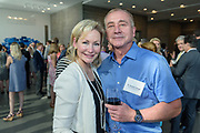 Dr. Rebecca Booth and Dr. Stephen Savage at the 10-year anniversary celebration of Republic Bank's Private Banking and Business Banking divisions Wednesday, May 17, 2017, at the Speed Art Museum in Louisville, Ky. (Photo by Brian Bohannon)