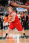 March 7, 2009: Trevor Ferguson of the North Carolina State Wolfpack in action during the NCAA basketball game between the Miami Hurricanes and the North Carolina State Wolfpack. The 'Canes defeated the Wolfpack 72-64.