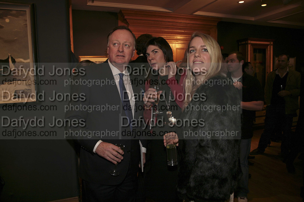 Andrew Parker Bowles, Lorna Lopes and Laura Parker Bowles,  Reception and auction of Wildlife and Sporting Art in aid of the game Conservancy Trust. Christie's. King St. London W1. 12 December 2006. ONE TIME USE ONLY - DO NOT ARCHIVE  © Copyright Photograph by Dafydd Jones 248 CLAPHAM PARK RD. LONDON SW90PZ.  Tel 020 7733 0108 www.dafjones.com